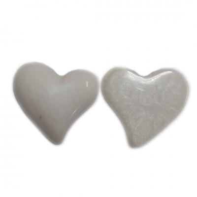 Pingente Coração - Off White - (UNID)