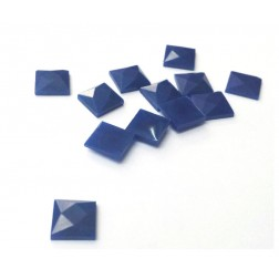 CHATON 10 X 10 MM AZUL ROYAL - PCT COM 12 PÇS