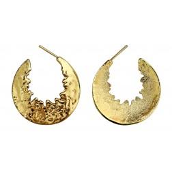 Argola Meia Lua Dourada - Par