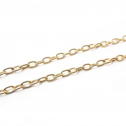 CORRENTE ELO OVAL 6MM - DOURADO (METRO)