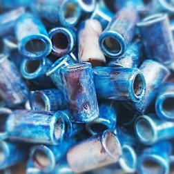 Entremeio - Resina - Azul Mescla - 20X12 MM - (UNID)