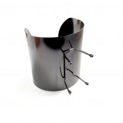 BRACELETE GARRA METAL 6CM - GRAFITE (UNID)