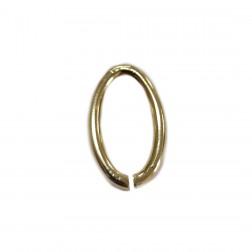 Entremeio Elo Oval - Banho Dourado - (UNID)