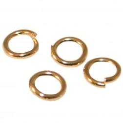 Argola Folheada Ouro  Pacote 25 Gramas-  Tamanho 6mm