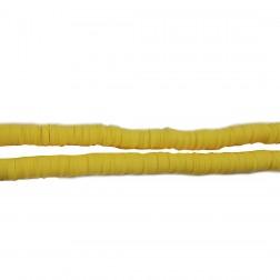 Contas de Fimo - Amarelo - 0,6 MM - (APROXIMADAMENTE 40 CM)