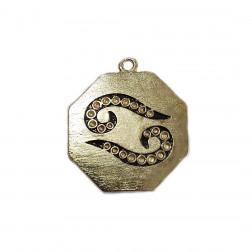 Pingente Yin Yang - Banho Dourado - 47X55MM