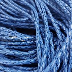 Couro Trançado - 5 MM - Azul - (METRO)