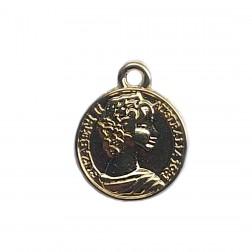 Medalha Elizabeth II - Banho Dourado - (UNID)