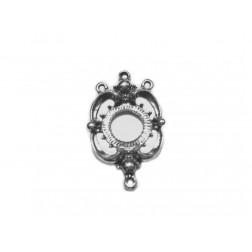 PINGENTE ALONGADOR - NÍQUEL VELHO - 4,0 x 2,5 cm - Unidade