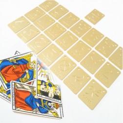 PINGENTE CARTAS DE TAROT (22 CARTAS) -  DOURADO (UNID)