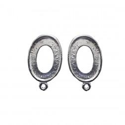 Brinco Oval Vazado - Par