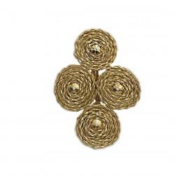 Pingente Quatro Círculos - Dourado - (UNID)