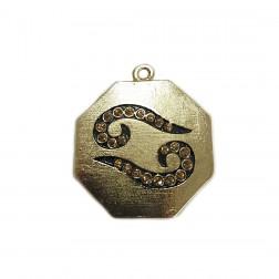Pingente Yin Yang - Banho Dourado - Esmaltado - 47X55MM
