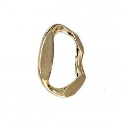 Pingente Elo - Banho Dourado - 50X60MM