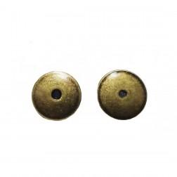 Tarraxa - Banho Ouro Velho - 1X1 CM (5 PARES)